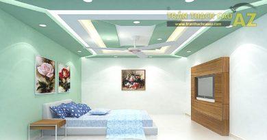 22 mẫu trần thạch cao phòng khách, phòng ngủ đẹp nhất 2019