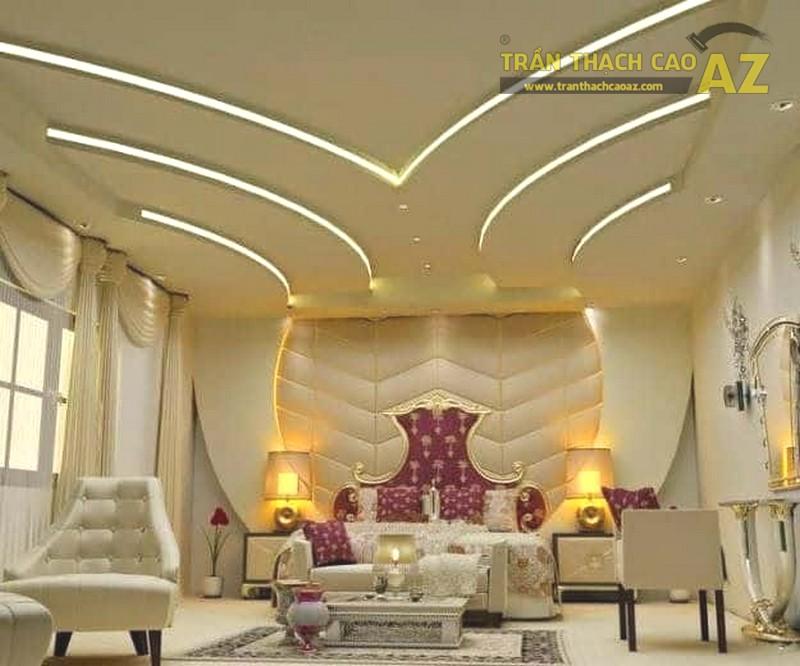 Mẫu trần thạch cao phòng khách biệt thự đẹp nhất - 01