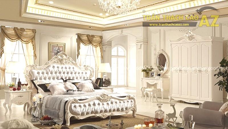 Mẫu trần thạch cao phòng ngủ biệt thực đẹp lung linh - 02
