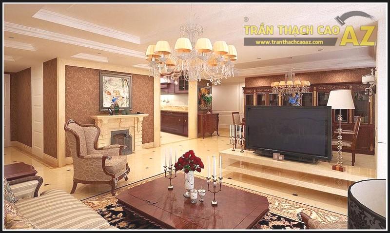 Mẫu trần thạch cao phòng khách biệt thự đẹp nhất - 04