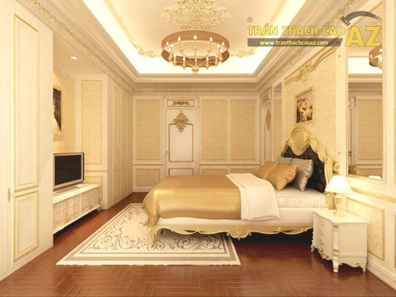 Mẫu trần thạch cao phòng ngủ biệt thực đẹp lung linh - 04