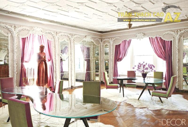 Mẫu trần thạch cao phòng khách biệt thự đẹp nhất - 09