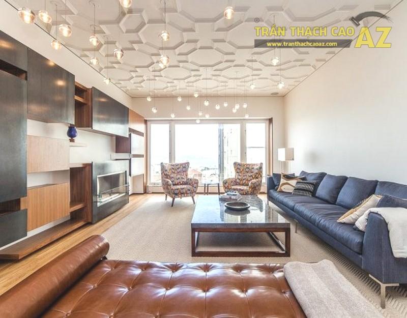 Trần phẳng cho phòng khách theo 1 lối thiết kế hoàn toàn mới