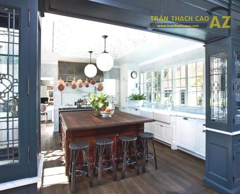 Trần thạch cao đẹp phòng bếp theo xu hướng đơn giản