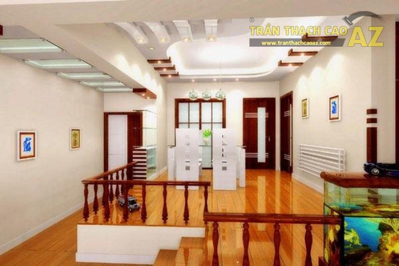 Nếu thích sự phá cách, tinh tế hãy thử chọn các mẫu trần thạch cao phòng khách đẹp như thế này nhé