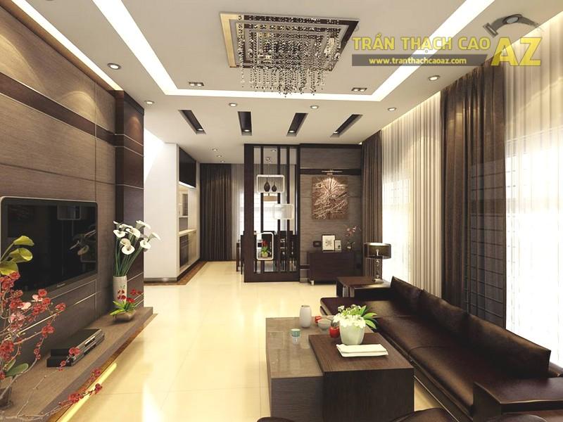 Một số mẫu trần thạch cao giật cấp đẹp cho phòng khách 2019