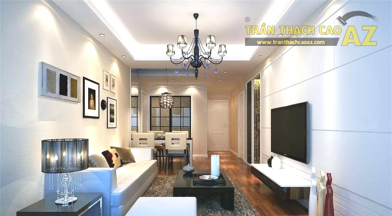 Ý tưởng thiết kế trần thạch cao phòng khách hiện đại đẹp nhất 2019