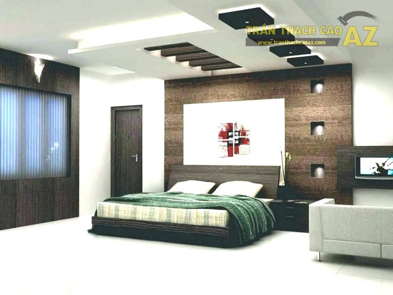 Mẫu đẹp nhưng cũng cần đội thợ thi công giỏi mới đảm bảo trần thạch cao phòng ngủ ưng ý nhất