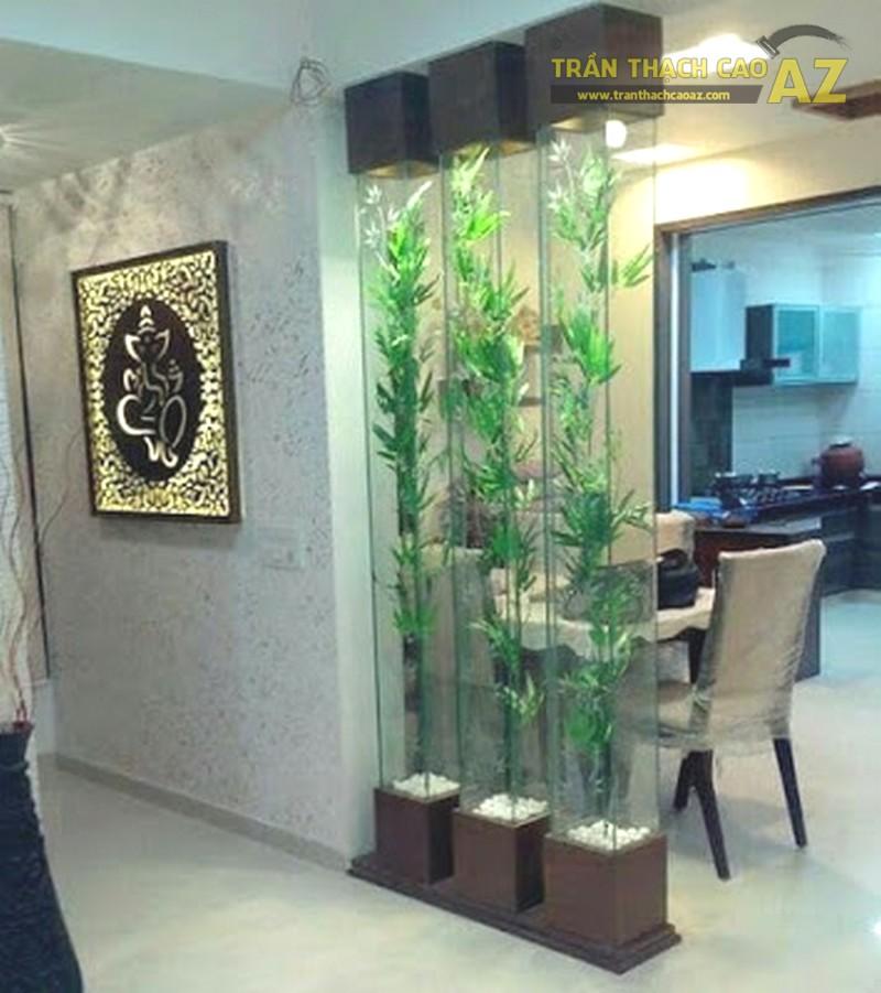 Vách thạch cao phân chia phòng khách và phòng ăn