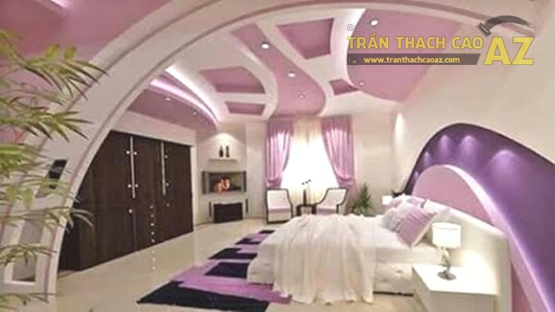 Thiết kế vách thạch cao phòng ngủ đẹp lung linh