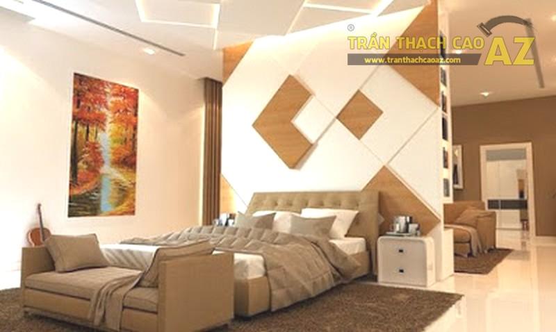 Vách thạch cao phân chia không gian phòng ngủ cực đẹp