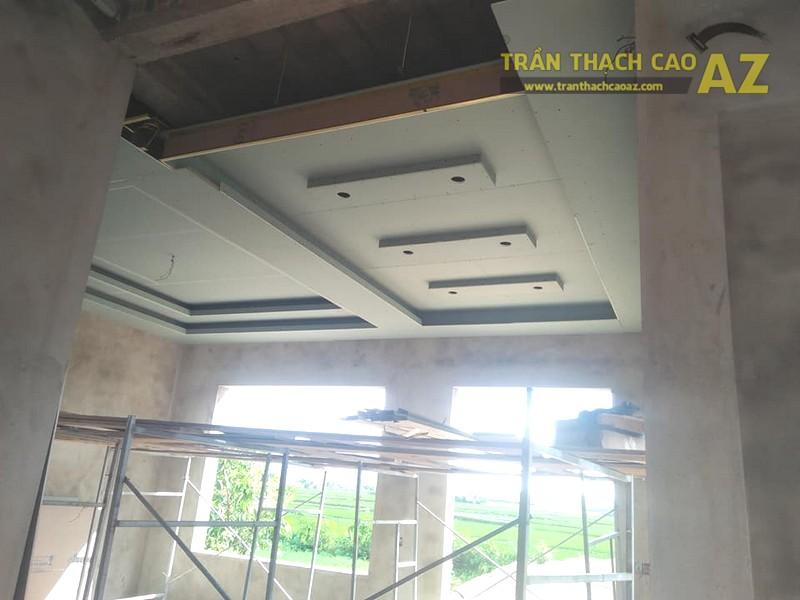Thi công trần thạch cao nhà cấp 4 hiện đại tại Thanh Liêm, Hà Nam - 01