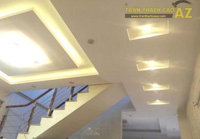 Làm trần thạch cao phòng khách, phòng ăn nhà chị Hằng, Hà Đông, Hà Nội