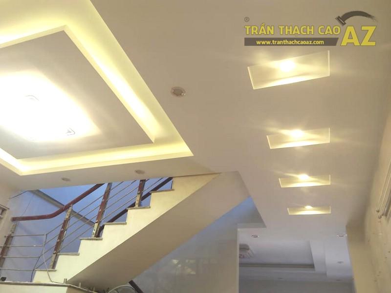 Thi công trần thạch cao phòng khách, phòng ăn nhà chị Hằng, Hà Đông, Hà Nội - 01