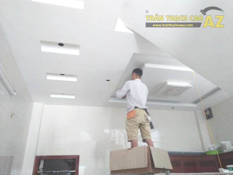 Thi công trần thạch cao phòng khách, phòng ăn nhà chị Hằng, Hà Đông, Hà Nội - 04