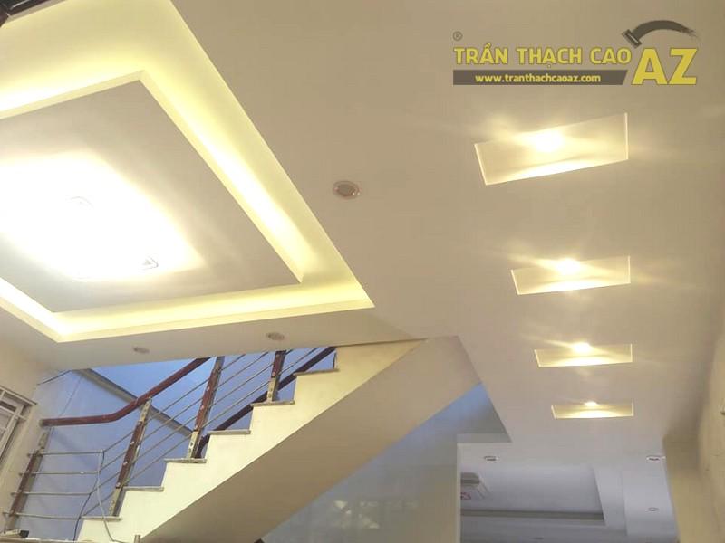 Thi công trần thạch cao phòng khách, phòng ăn nhà chị Hằng, Hà Đông, Hà Nội - 06