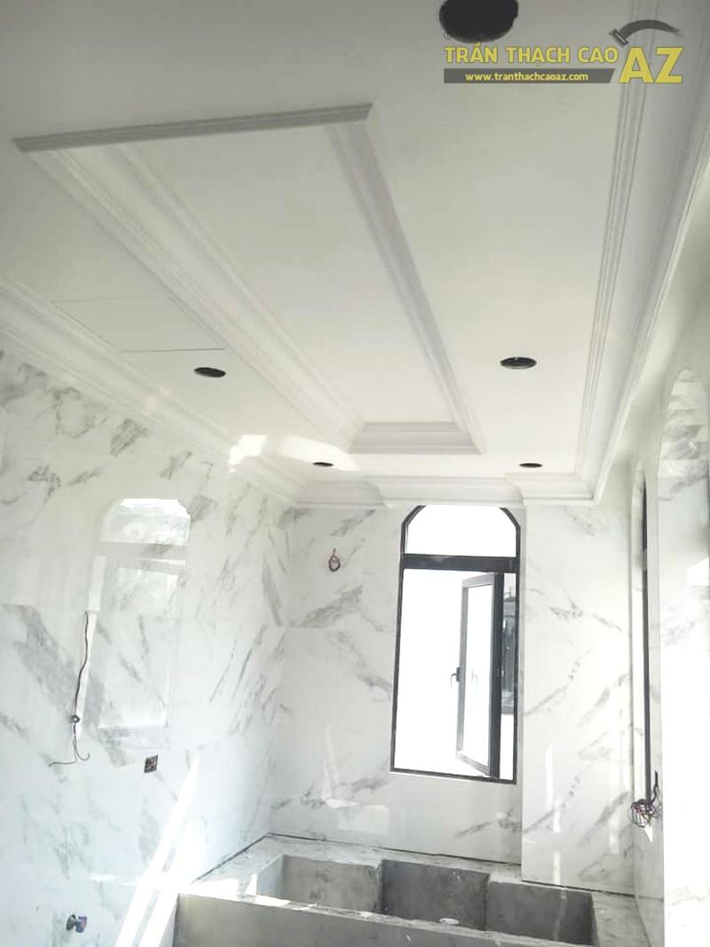Trần thạch cao phòng tắm cho biệt thự nhà anh Nghĩa