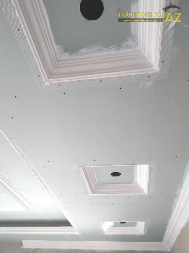 Thi công trần thạch cao phòng khách tại Đông Anh, Hà Nội nhà anh Tiến - 05