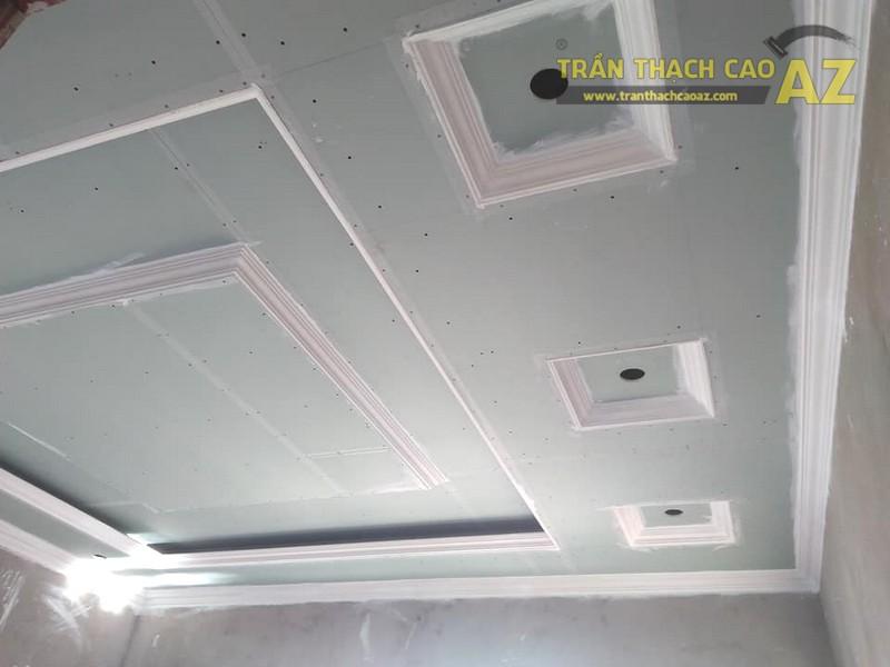 Thi công trần thạch cao phòng khách tại Đông Anh, Hà Nội nhà anh Tiến - 04