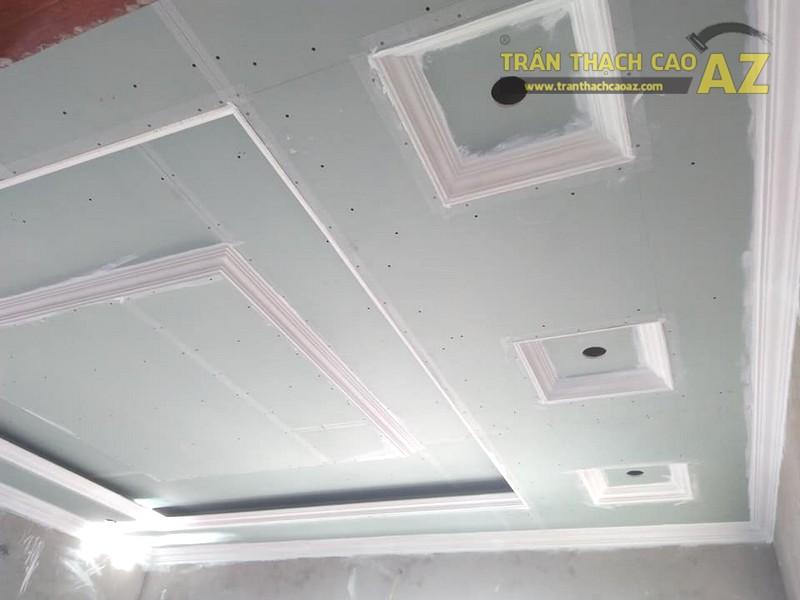 Thi công trần thạch cao phòng khách tại Đông Anh, Hà Nội nhà anh Tiến - 03