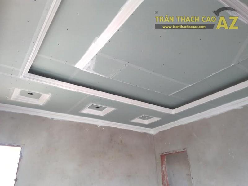 Thi công trần thạch cao phòng khách tại Đông Anh, Hà Nội nhà anh Tiến - 02