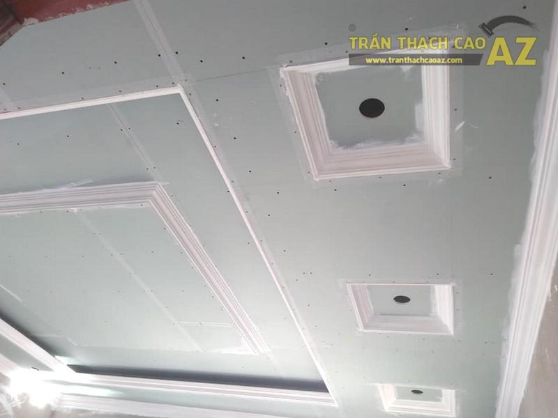 Thi công trần thạch cao phòng khách tại Đông Anh, Hà Nội nhà anh Tiến - 01