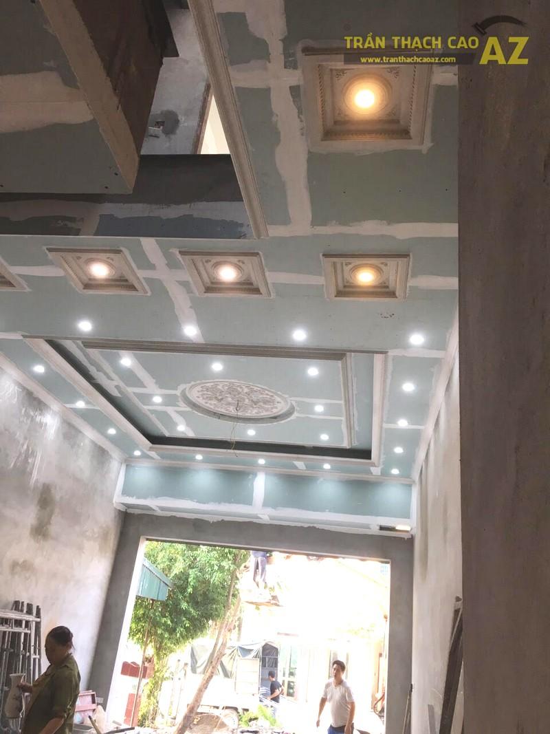 Thi công trần thạch cao phòng khách giật cấp tại Đồng Văn, Duy Tiên, Hà Nam