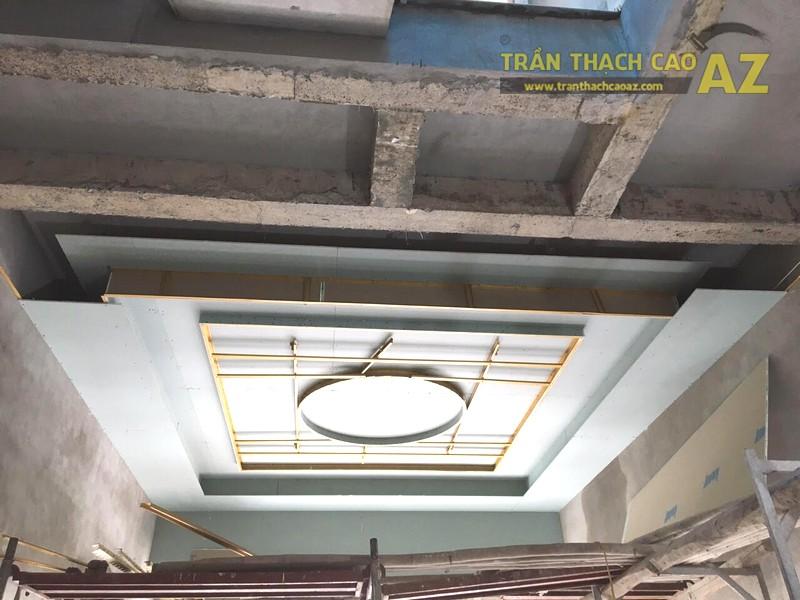 Thi công trần thạch cao phòng khách giật cấp tại Đồng Văn, Duy Tiên, Hà Nam - 02