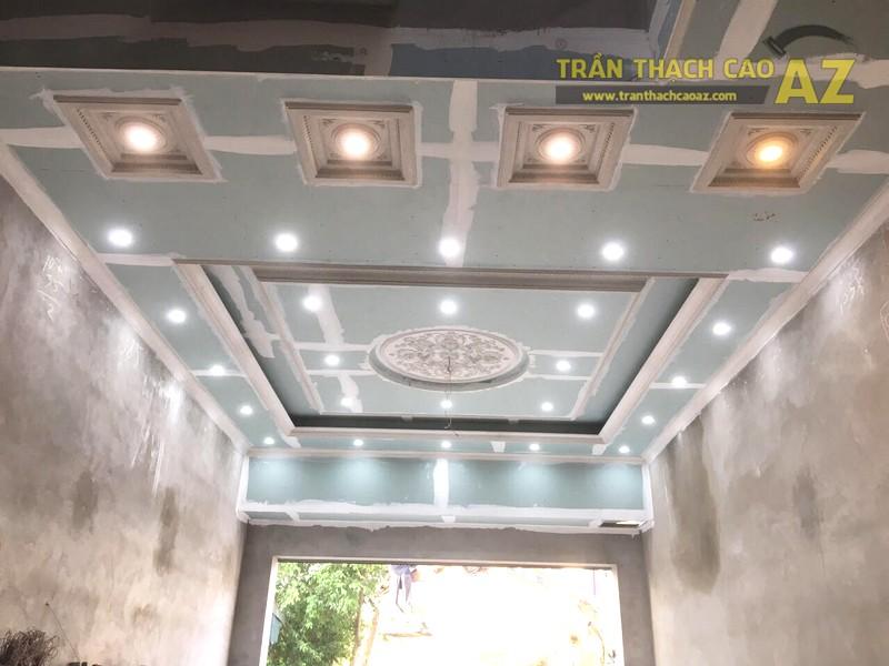 Thi công trần thạch cao phòng khách giật cấp tại Đồng Văn, Duy Tiên, Hà Nam - 04