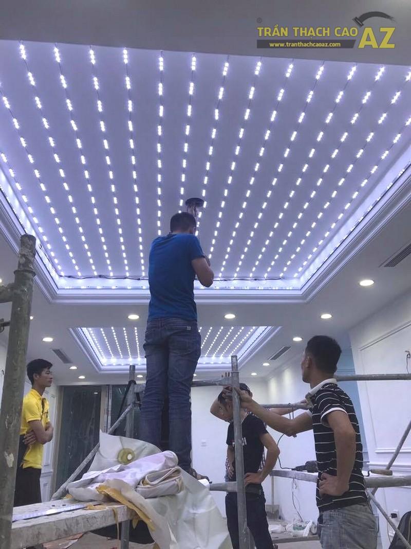 Thi công trần thạch cao xuyên sáng nhà anh Định, Hoàn Kiếm, Hà Nội - 02