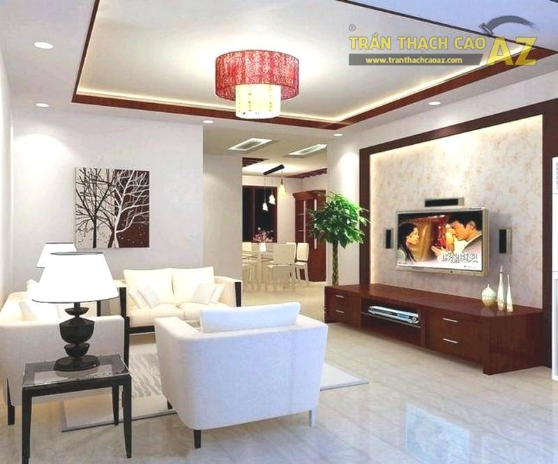 Mẫu trần thạch cao hiện đại tuyệt đẹp cho phòng khách nhỏ