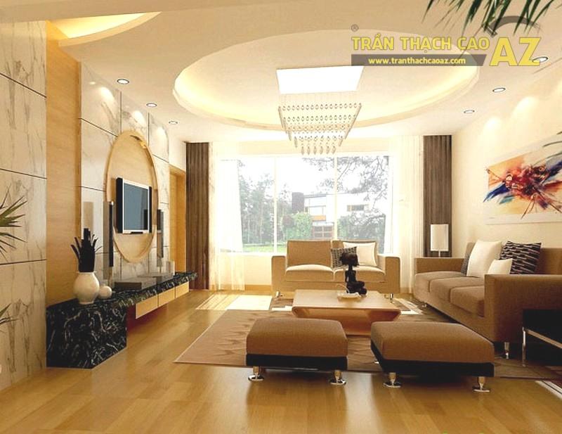 Những thiết kế giật cấp hình khối lạ mắt lại đem đến 1 vẻ đẹp khác biệt cho phòng khách