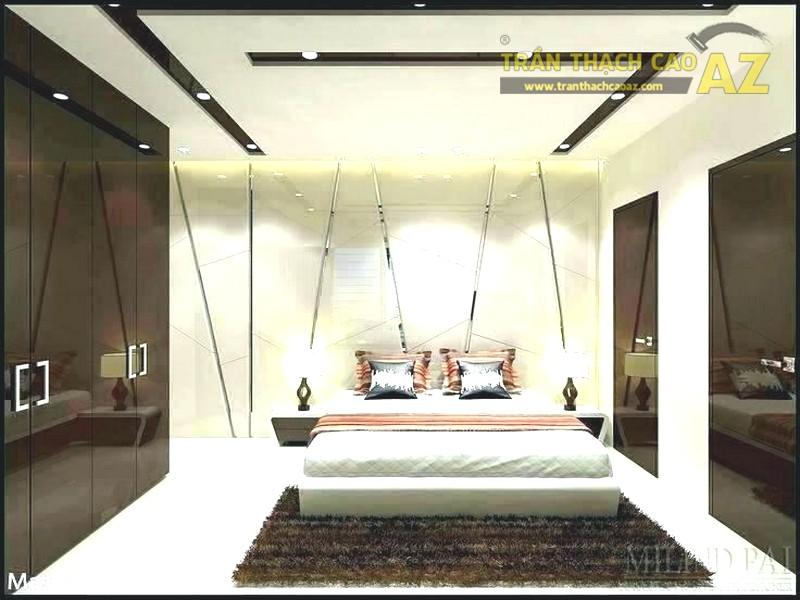 AZ Nhận thiết kế, thi công trần thạch cao phòng ngủ nhỏ giá rẻ nhất