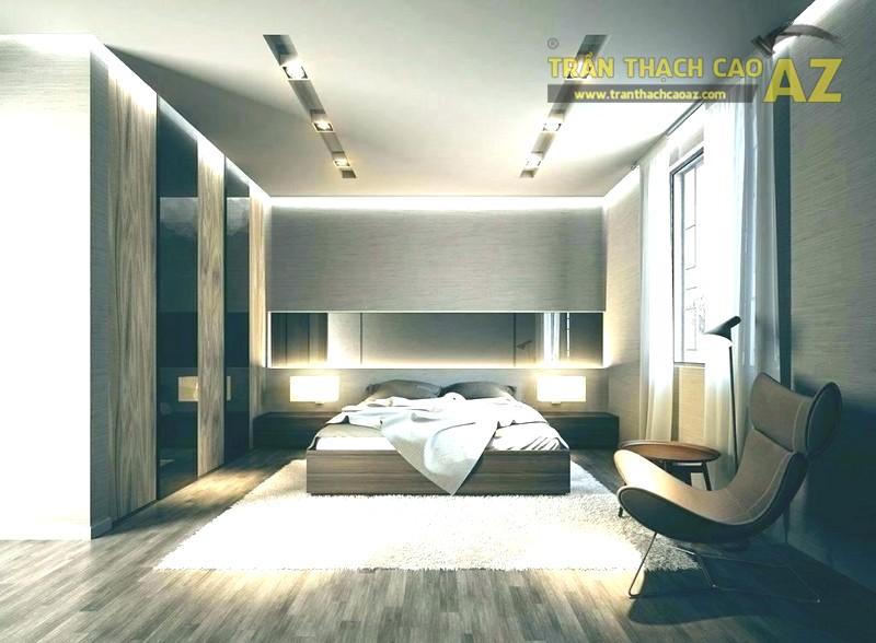 Mẫu trần thạch cao cho phòng ngủ vợ chồng 20m2 - 11