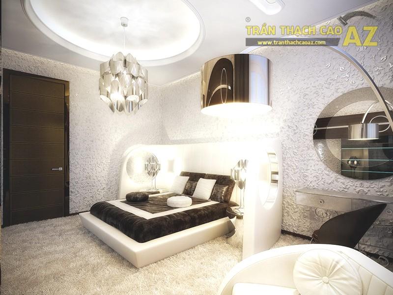 Mẫu trần thạch cao cho phòng ngủ vợ chồng 20m2 - 08