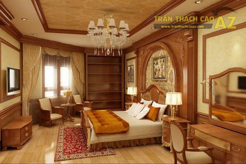 Mẫu trần thạch cao phòng ngủ tân cổ điển tuyệt đẹp cho không gian diện tích nhỏ - 02