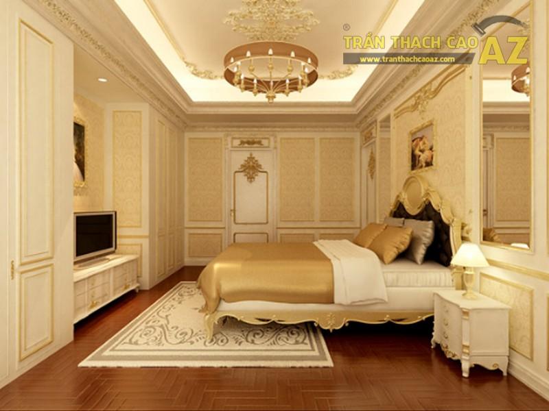 Mẫu trần thạch cao phòng ngủ tân cổ điển tuyệt đẹp cho không gian diện tích nhỏ - 01