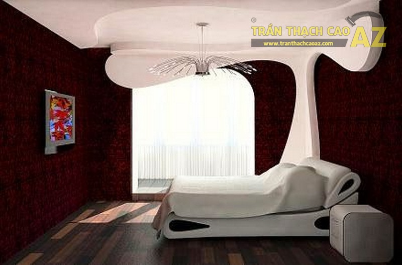 Mẫu trần thạch cao cho phòng ngủ vợ chồng 20m2 - 02