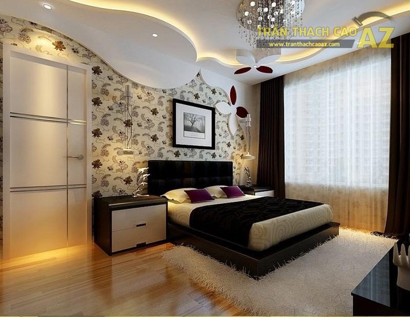 Mẫu trần thạch cao cho phòng ngủ vợ chồng 20m2 - 06