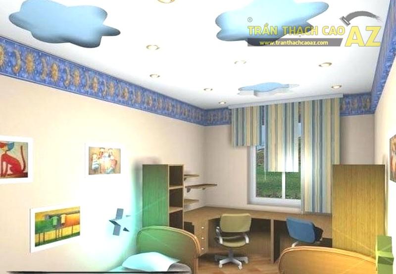 Mẫu trần thạch cao phòng ngủ nhỏ cho bé - 06