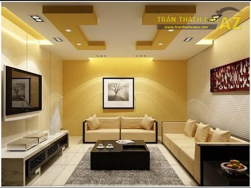 23 mẫu trần thạch cao phòng khách nhỏ hiện đại đẹp mê ly - 08