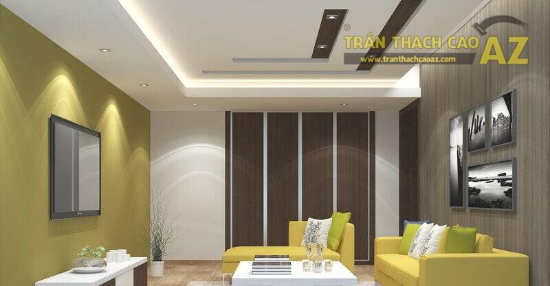 Mẫu trần thạch cao hiện đại cho phòng khách nhỏ - 03