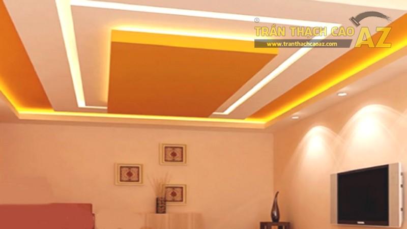 23 mẫu trần thạch cao phòng khách nhỏ hiện đại đẹp mê ly - 03