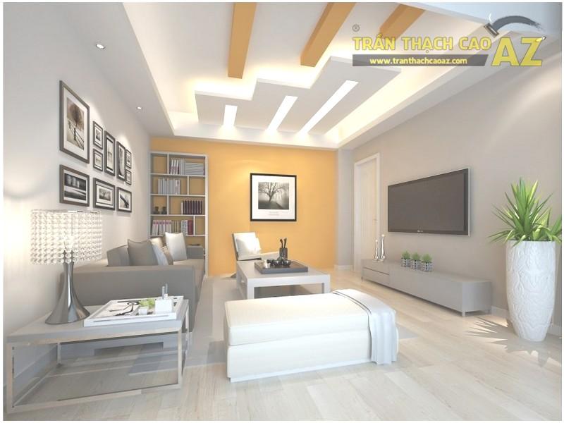23 mẫu trần thạch cao phòng khách nhỏ hiện đại đẹp mê ly - 06