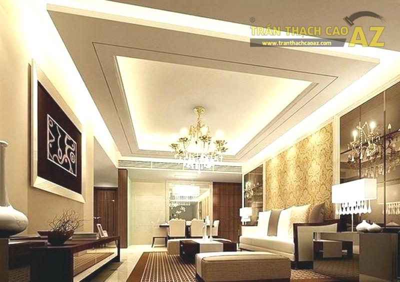 23 mẫu trần thạch cao phòng khách nhỏ hiện đại đẹp mê ly - 07