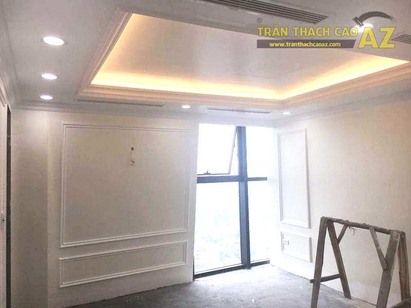 Trần thạch cao chung cư đẹp được thi công bởi AZ tại nhà anh Kiện, Hà Đông, Hà Nội - 06