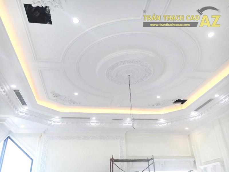 Trần thạch cao chung cư đẹp được thi công bởi AZ tại nhà anh Kiện, Hà Đông, Hà Nội - 01