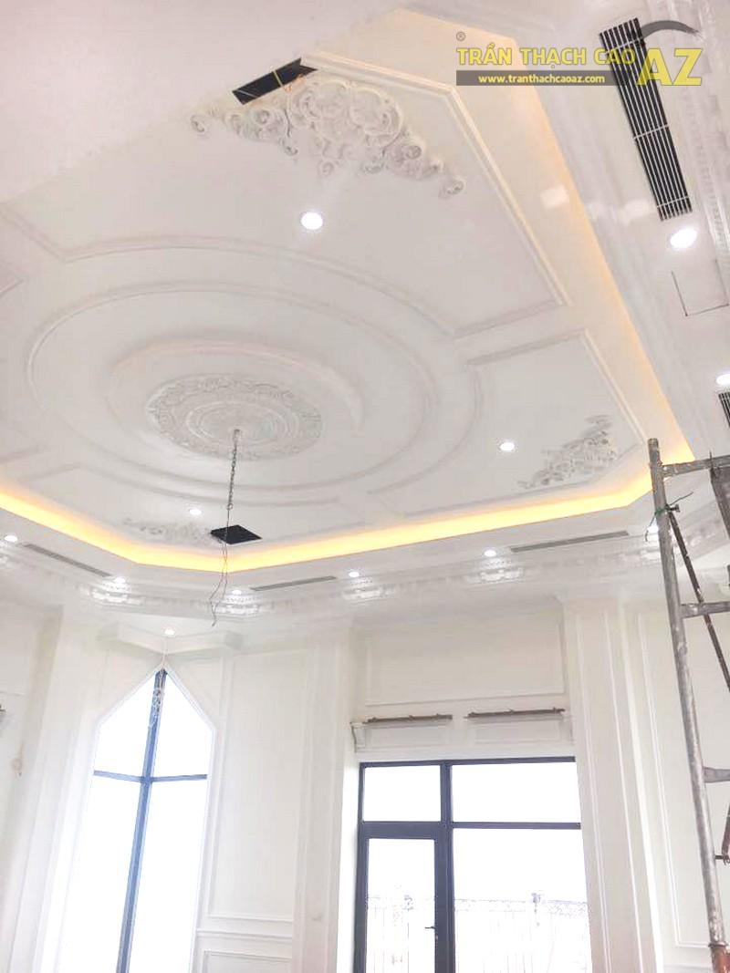 Trần thạch cao chung cư đẹp được thi công bởi AZ tại nhà anh Kiện, Hà Đông, Hà Nội - 02