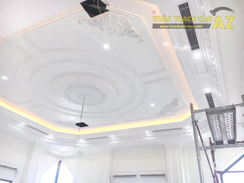 Trần thạch cao chung cư đẹp được thi công bởi AZ tại nhà anh Kiện, Hà Đông, Hà Nội - 03