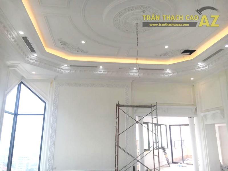 Trần thạch cao chung cư đẹp được thi công bởi AZ tại nhà anh Kiện, Hà Đông, Hà Nội - 04